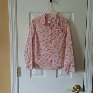 Girls Cat & Jack Button Down Shirt